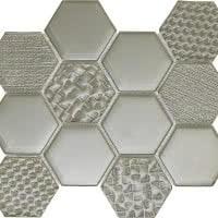 Hex Mix - Champignon - Size 9x11 mosaic nominal