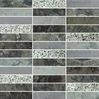 Marble Medley - Grigio Barlin 1x4 - Size 12x12 mosaic