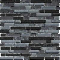Stone Medley - Black - Size 12x12 mosaic