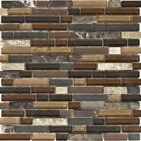 Stone Medley - Dark Brown - Size 12x12 mosaic