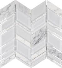 Chelsea Glass - Chevron White - Size 11x12