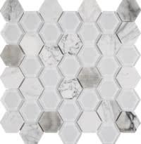 Chelsea Glass - Hexagon White - Size 12x12