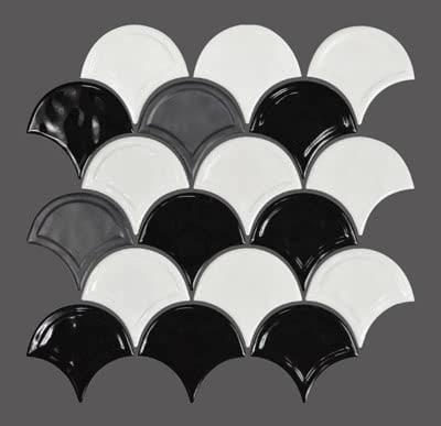 Fans---Black-&-White-Blend---11B---Size-11x11-Mosaic